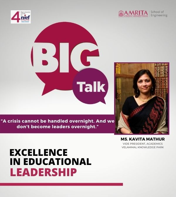 Big Talk, Ms. Kavita Mathur, Excellence in Educational Leadership