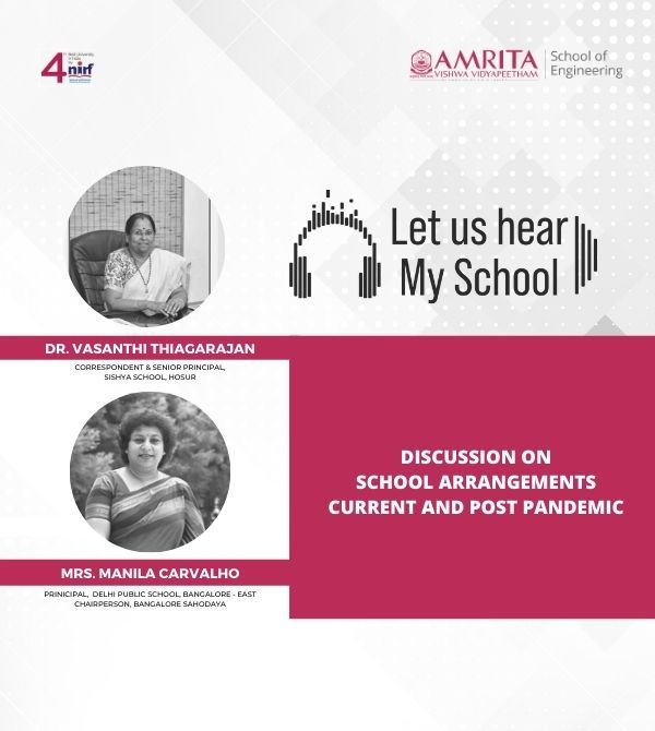 Let Us Hear! My School!! Part II - Discussion on School Arrangements and Post Pandemic