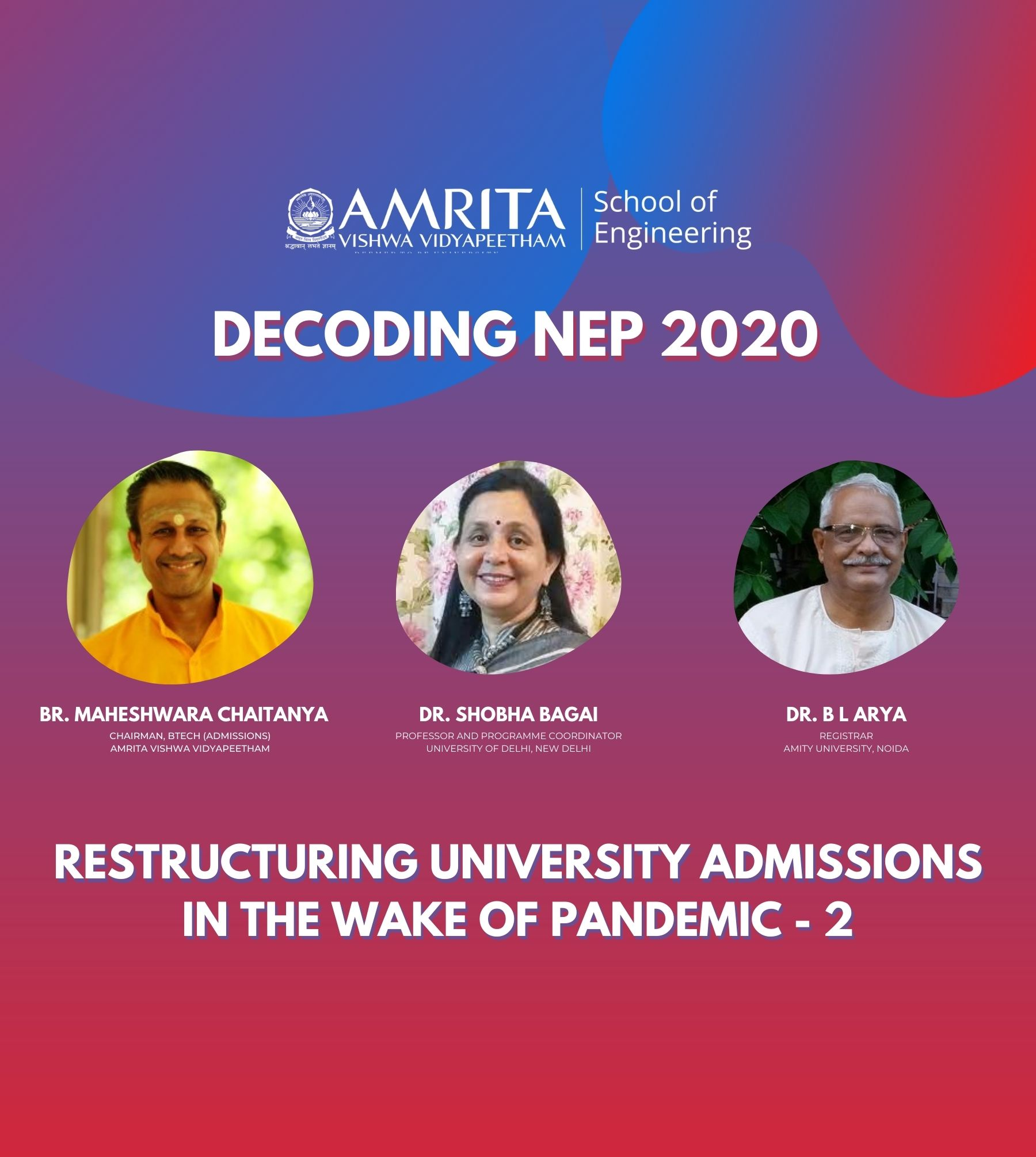 Restructuring University Admissions in the wake of Pandemic - Part 2